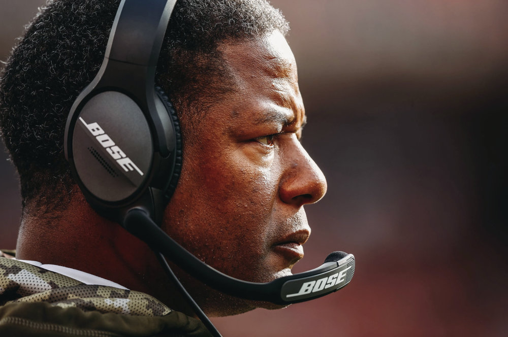 Among five African-American coaches fired as the N.F.L. season wound down was Steve Wilks, who coached the Arizona Cardinals (3-13) for one season. (David Eulitt/Getty Images)