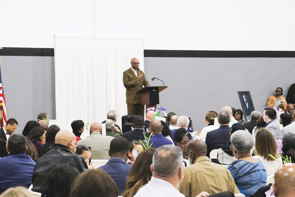 Master of Ceremony Pastor Steven R. Watkin. (Carrington Prichett photo)