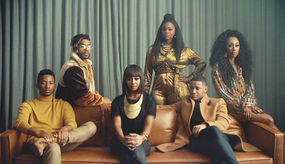 Cast of BET Network and Paramount's Boomerang reboot where on-the-rise actress Brittany Inge (top row center) plays Crystal Garrett, a friend to the other main characters.