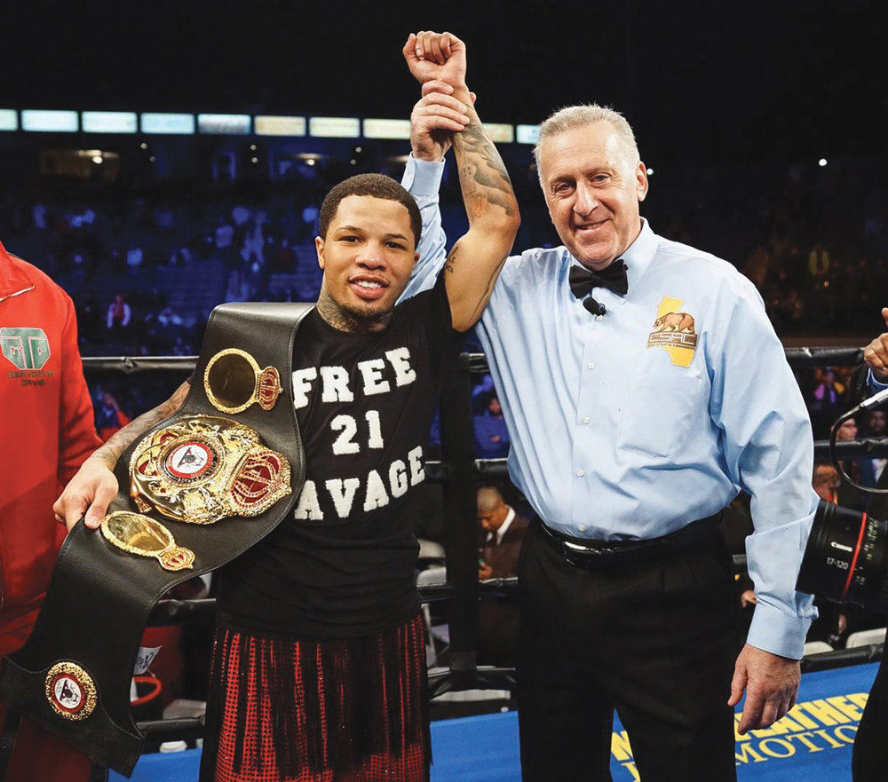 Gervonta Davis gets a first round knockout on Hugo Ruiz this past Saturday evening. (Photo Credit: Dave Mandel)