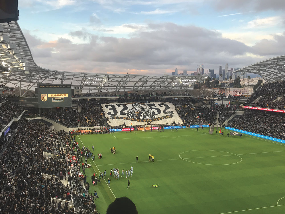 The Los Angeles Football Club opened up their new season at Band of California Stadium on Sunday March 3 against Sporting KC. (LAFC courtesy photo)