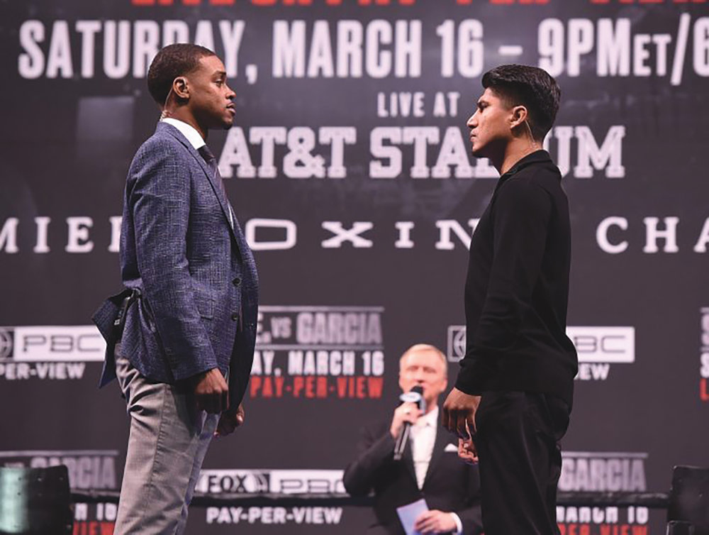 Premier Boxing Champions on FOX Sports Pay-Per-View event which will be headlined by the unbeaten fighters Spence and Garcia Saturday night, March 16 at AT&T Stadium in Arlington, Texas. (courtesy photo)