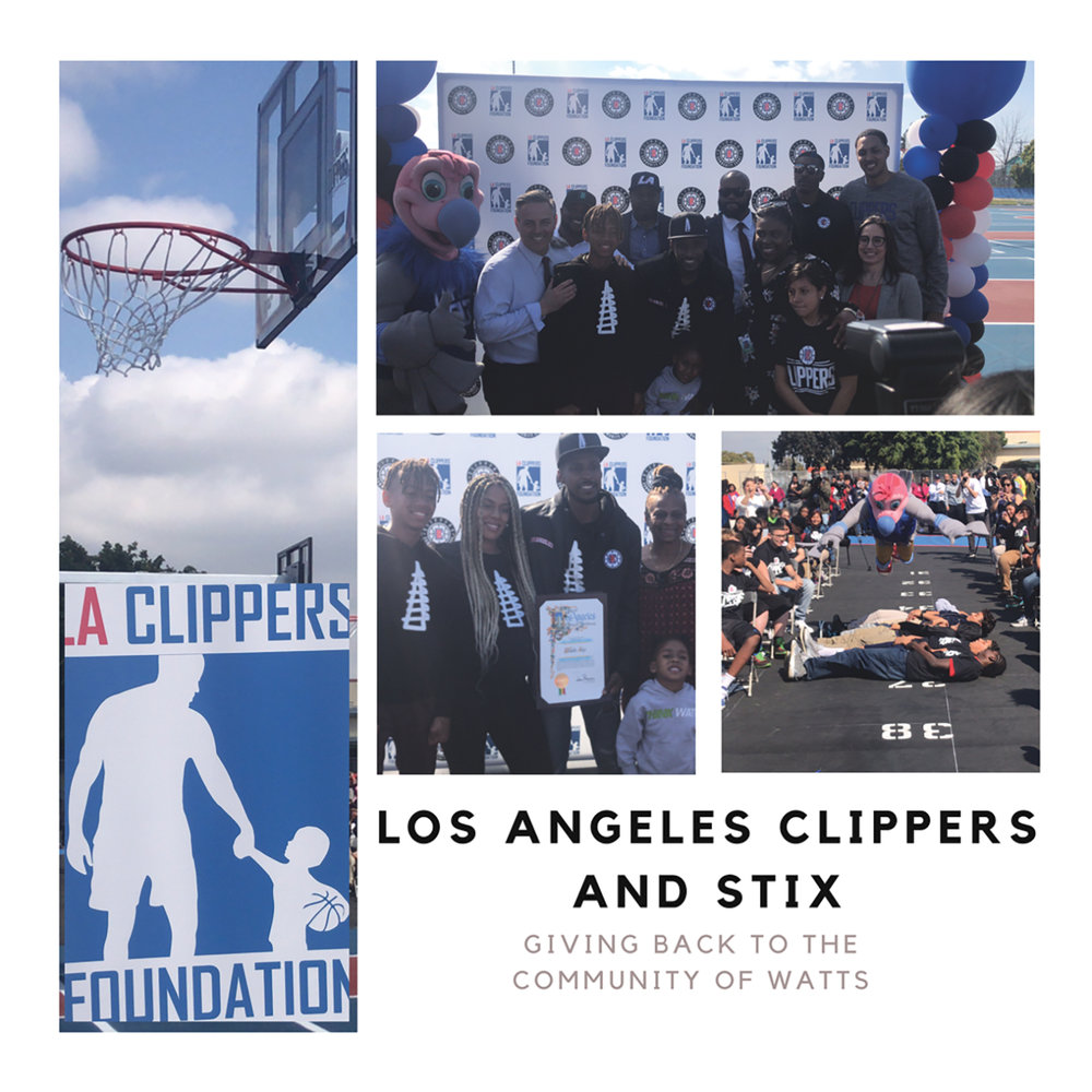 The Los Angeles Clippers partner with Watts Stix and American Airlines to update the playgrounds at this Elementary School in Watts. (courtesy photo)