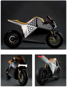 Case Study: Mission One Electric Motorcycle - Client:Mission MotorsSparkfactor Design supported the team at Mission Motors (formerly Hum Cycles) to create the fastest electric motorcycle in the world.Sparkfactor's role:* Designed and engineered high power LED headlight to optimize the following:***- Uniform brightness***- Thermal management***- Power control and management* Designed and engineered LED tail light* Engineered other internal components* Quick turn prototyping (ME and EE)* Project managementTeam:Mr. Farag, Mike Lohse, Carson LauMission Motors website