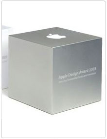 Case Study: World Wide Developers Conference (WWDC) Award Cube - Client:Apple Computer Graphic Design GroupDisciplines:Mechanical Engineering, Electrical Engineering, Project Management, Contract ManufacturingDates:2003, 2004, 2005, 2006, 2007, 2008, 2009Team:Mr. Farag, Robert GarrettSparkfactor's Role:For 7 years now we have been producing the WWDC award cubes for Apple.We created the initial full detailed design of the awards based on concept sketchesMechanical and Electrical Engineering of the WWDC awardsDeveloped novel low-volume anodizing processDesigned and produced capacitive sensor PCBManaged production manufacturing of the product including all sources and end-to-end productioncnetarticle by Josh Lowensohn:Apple began its annual design awards program in 1997 under the moniker the