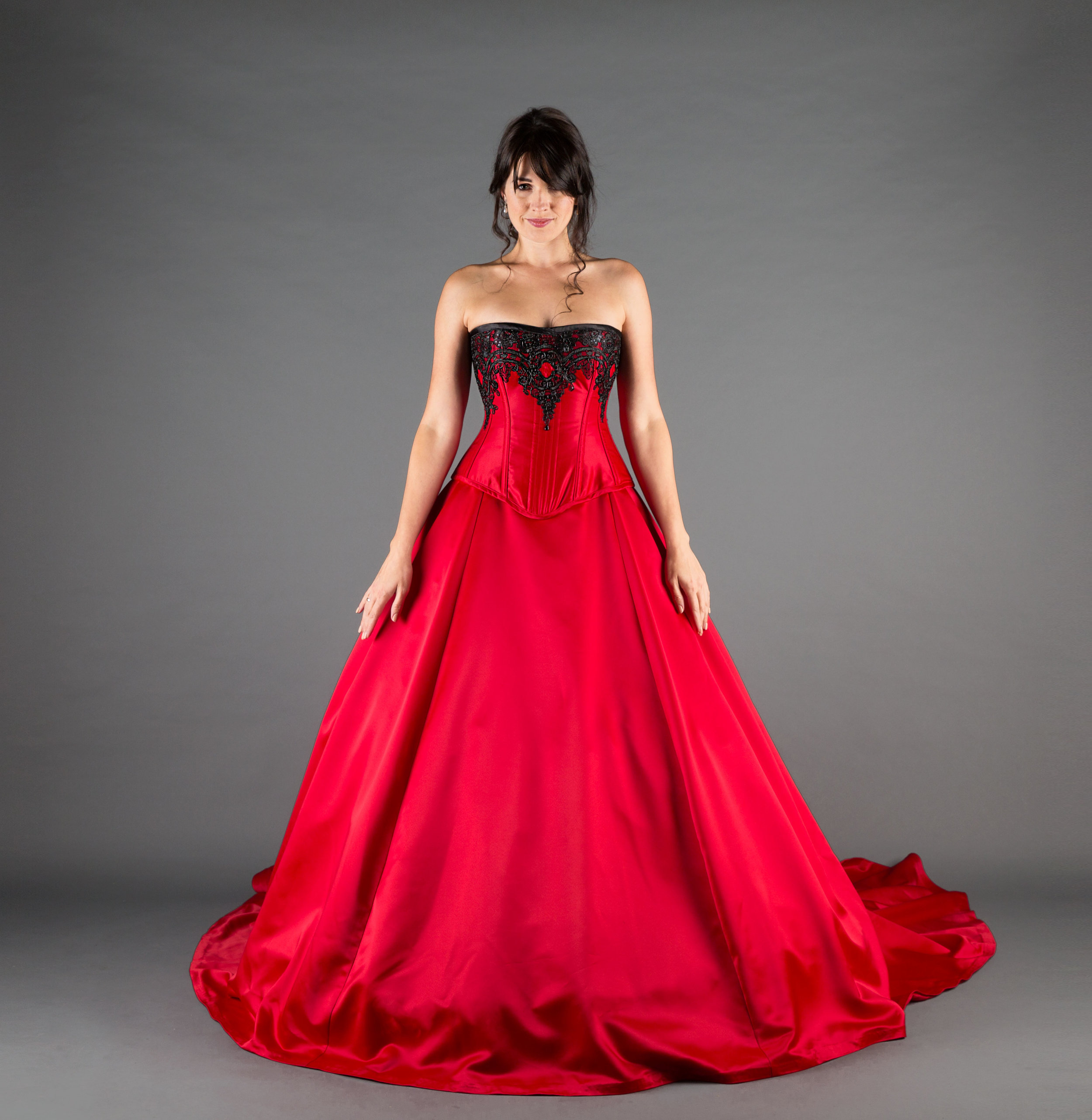 dd9e4f9a4683 Black And Red Victorian Wedding Dresses