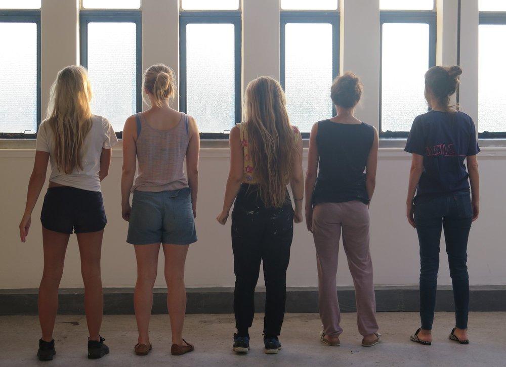 L - R : Bella, Rosa, Jess, Siva, Roni
