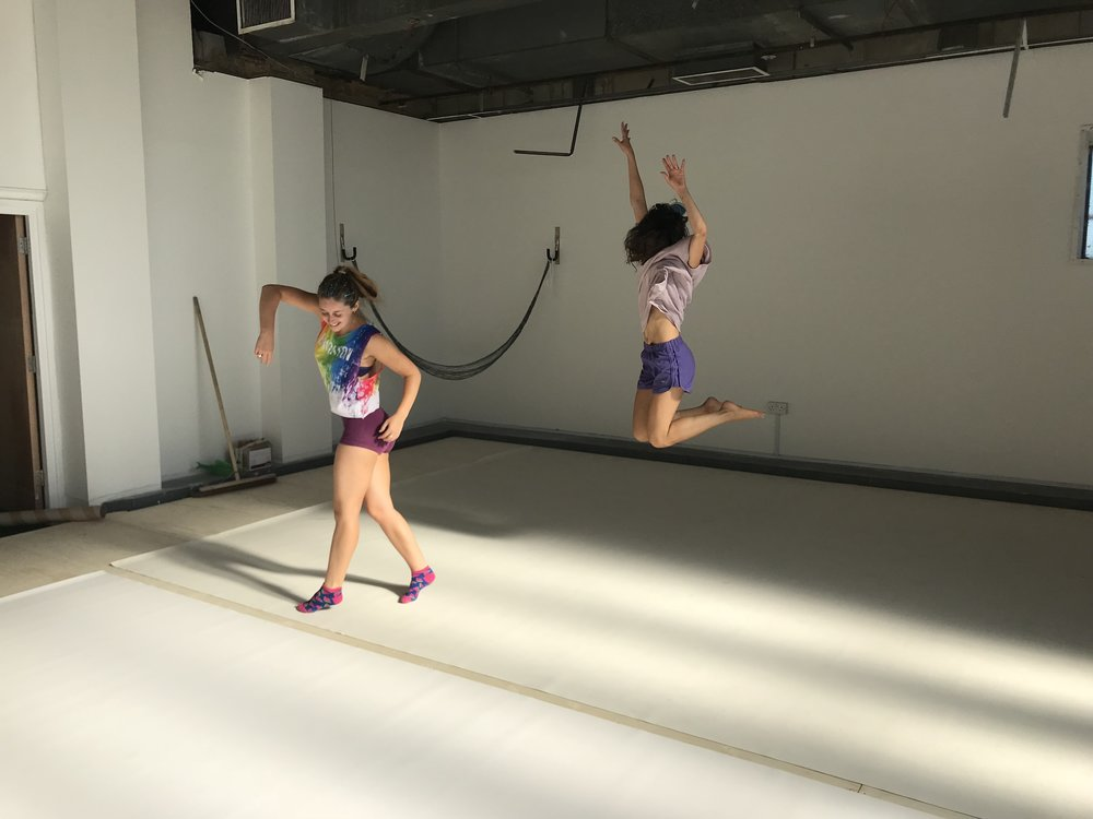 Jump, Dance, Move, Be yourself and enjoy! Jess and Sivi