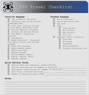 Travel Checklist -