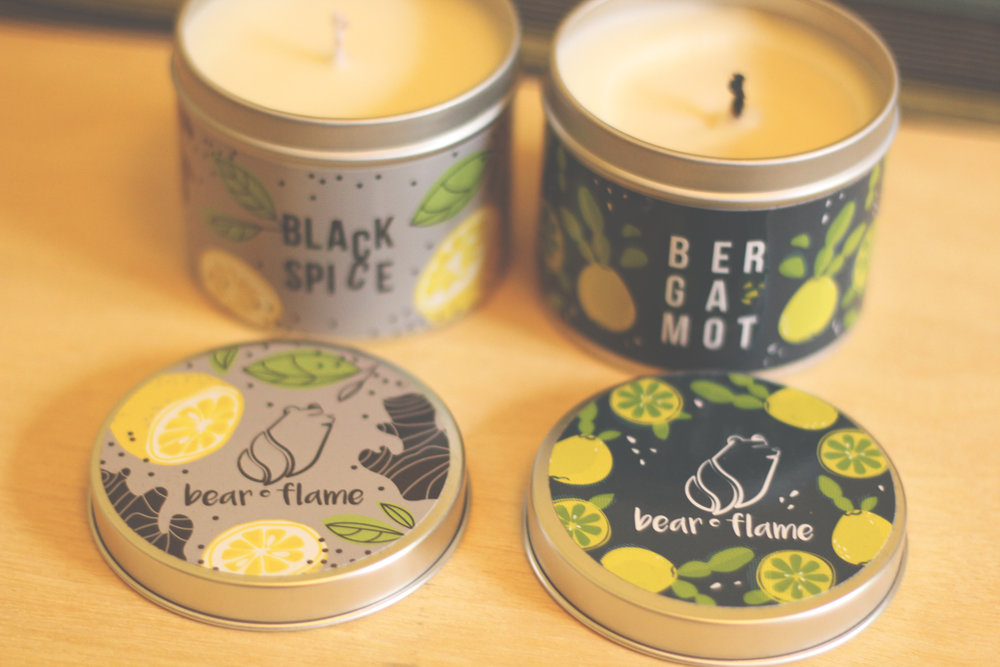 bearflame candles scottish design exchange made in leith