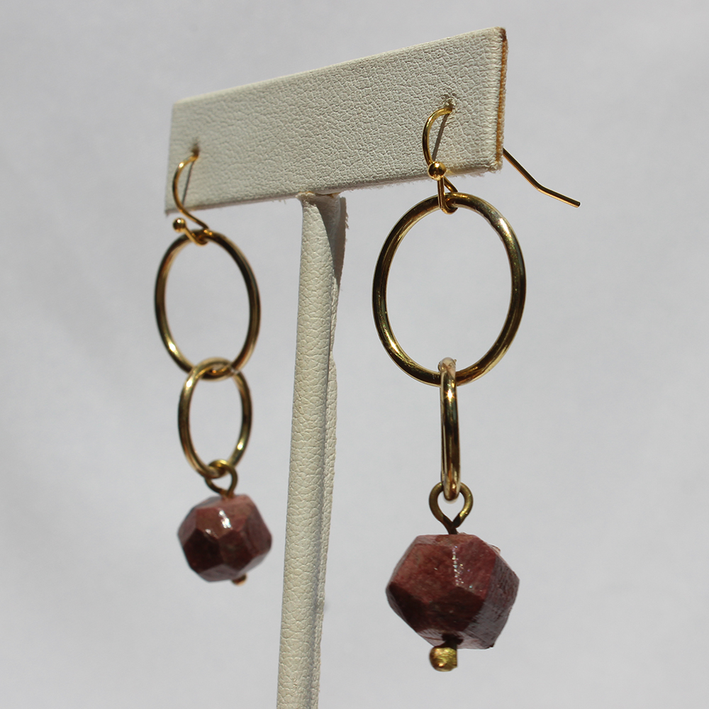 GIFTT EARRINGS - NUGGET DOUBLE CIRCLE (CORAL).jpg