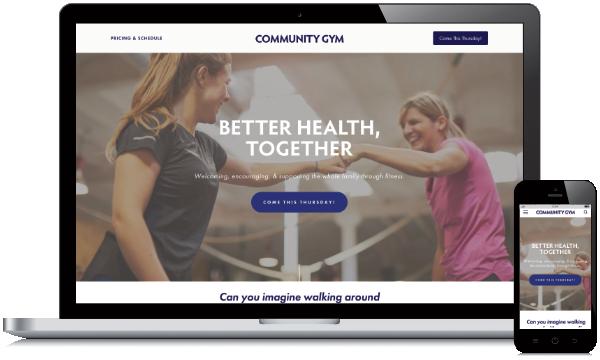Community Gym Website