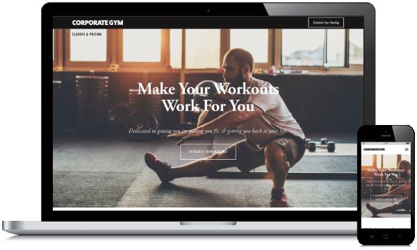 Corporate Gym Website