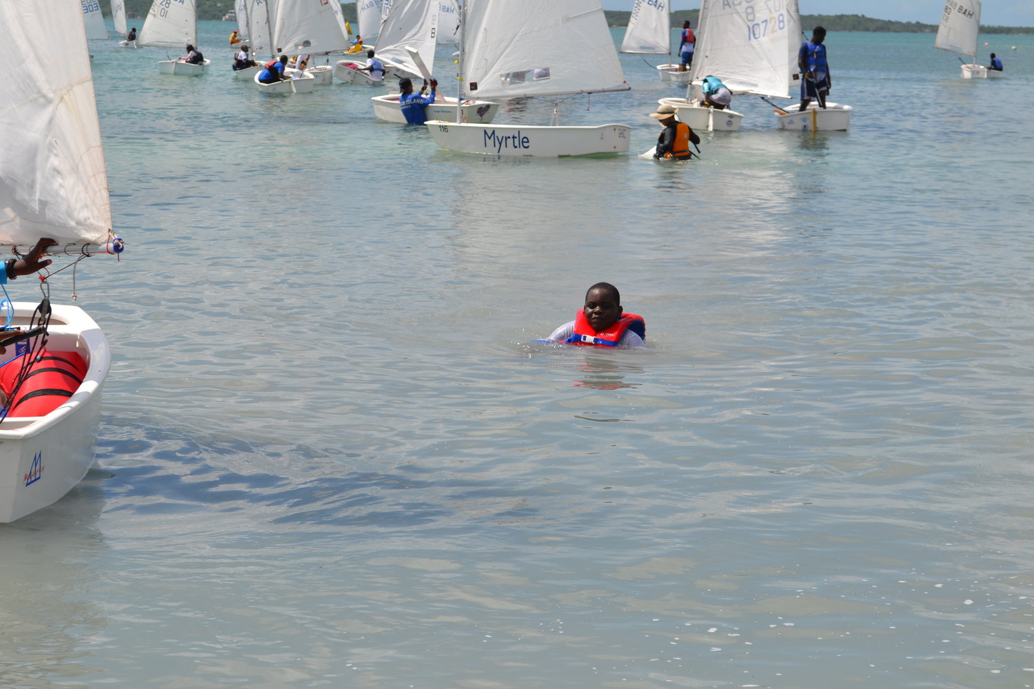Popular water sports. Dinghy sailing on southampton water from.