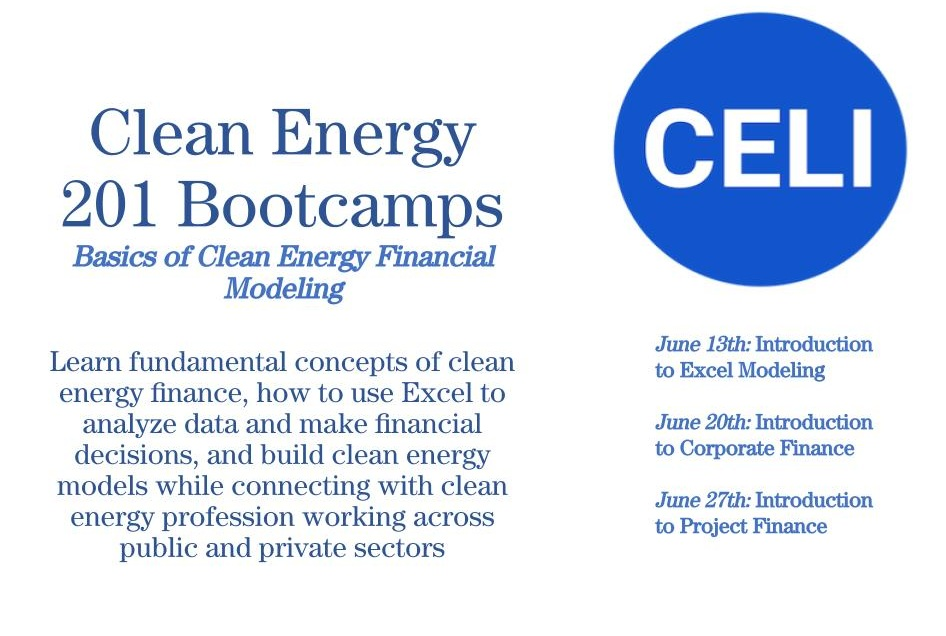 SOLD OUT - CELI DC 201 Bootcamp: Basics of Clean Energy
