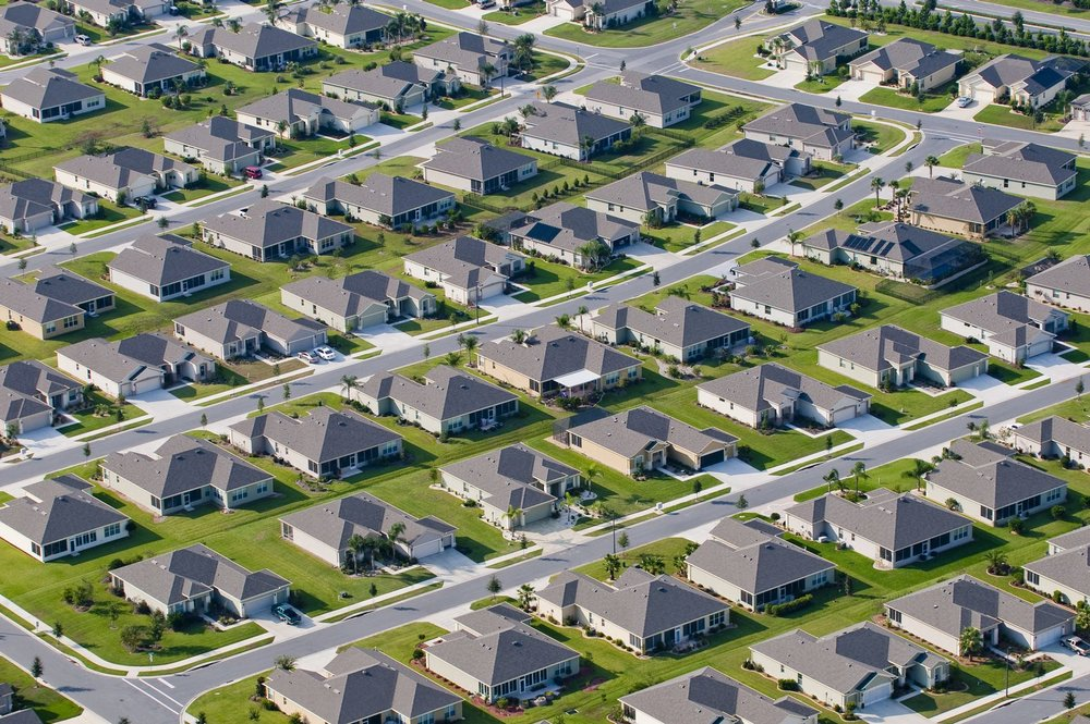 Subdivisions are platted and approved by City Planning prior to development.