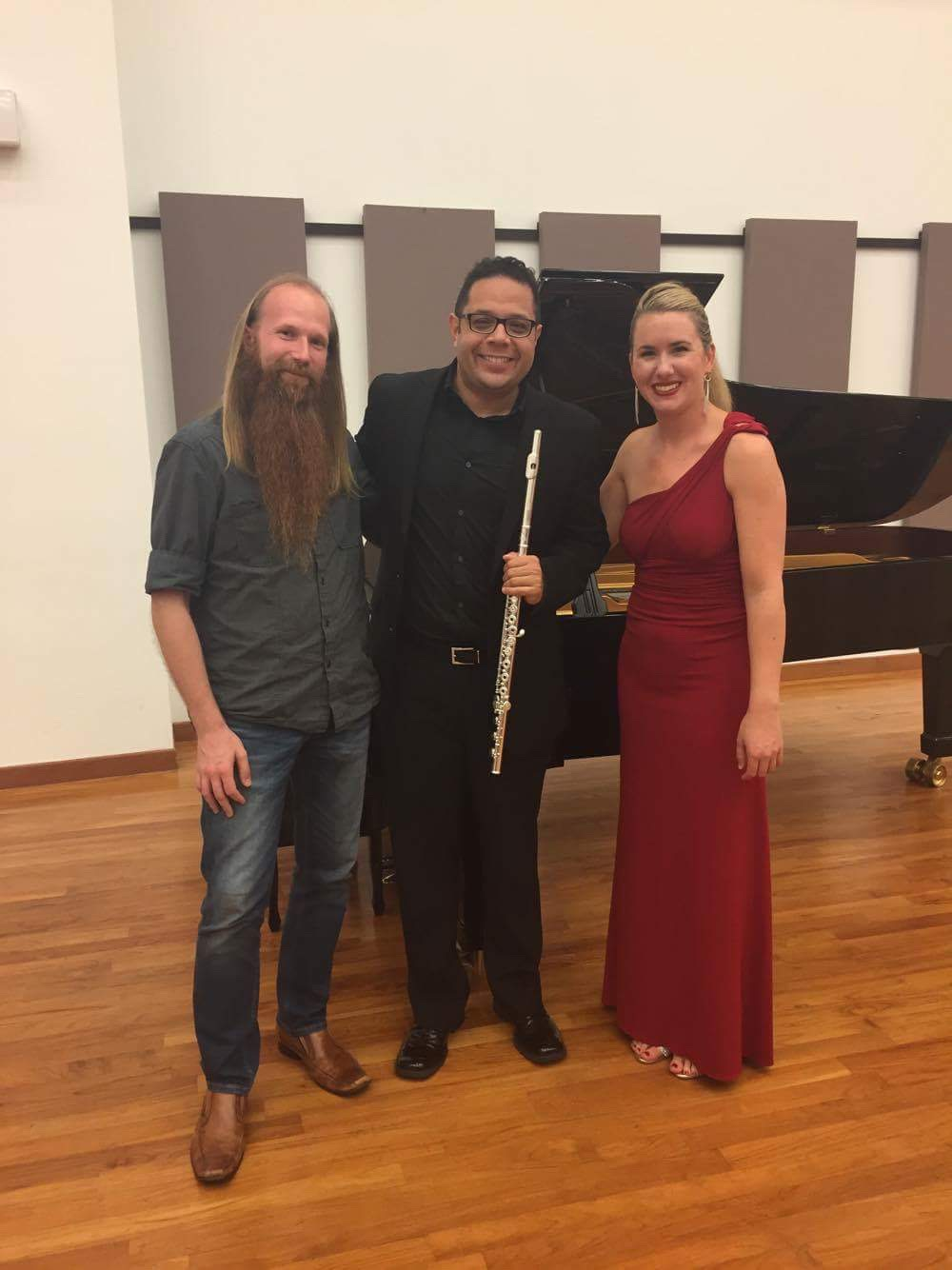 Composer Nick Omiccioli and pianist Lindsay Garritson - Singapore, 2017