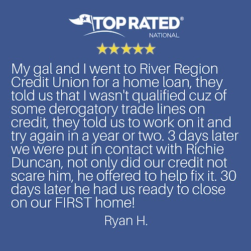 BuildBuyRefi review and testimonial for Richie Duncan.