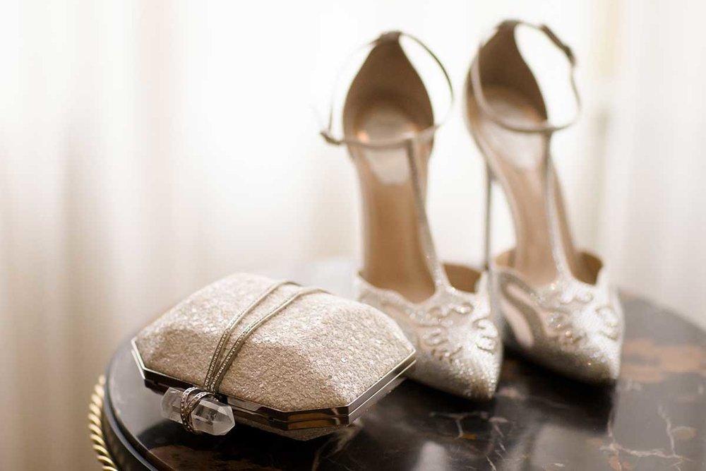 Marchessa clutch Giuseppi Zanotti shoes