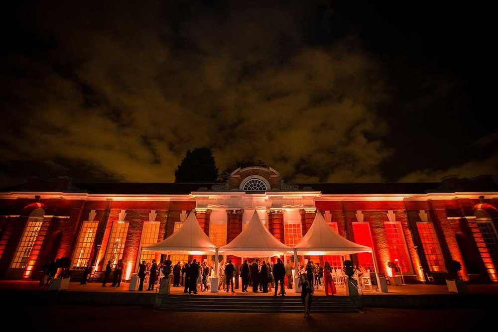 Kensington Palace orangery welcome party London