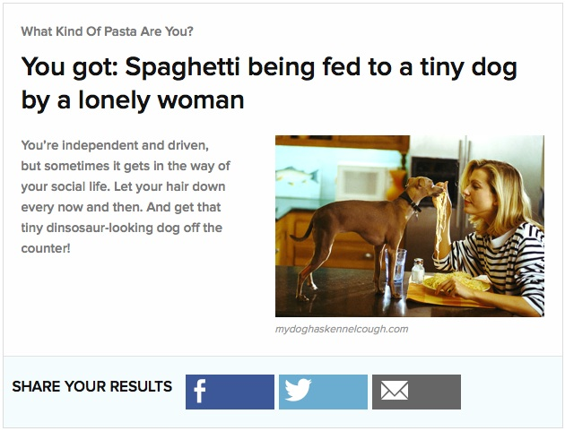 I completed a buzz feed quiz while writing this