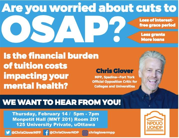 OSAP Town Hall with MPP Chris Glover - CVUO - uottawa events.jpg