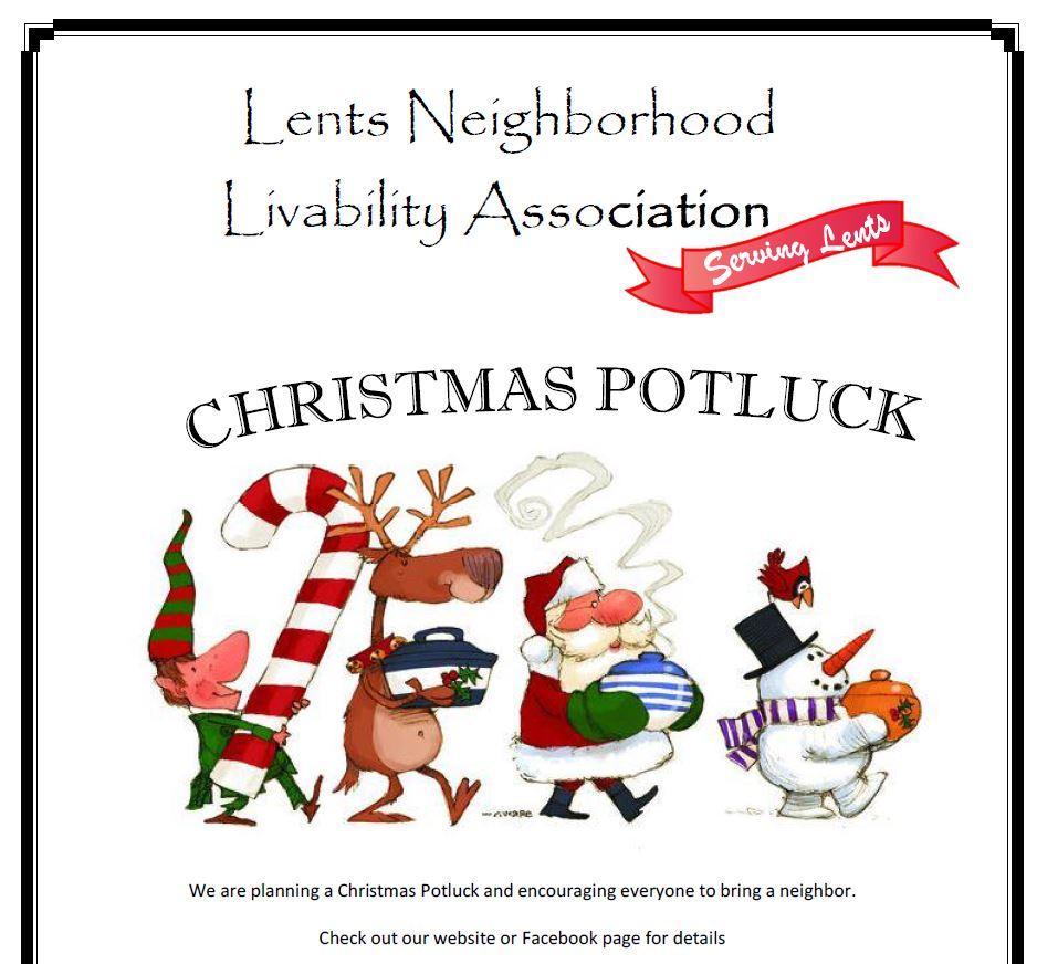 Christmas Potluck.Christmas Potluck Lents Neighborhood Livability Association
