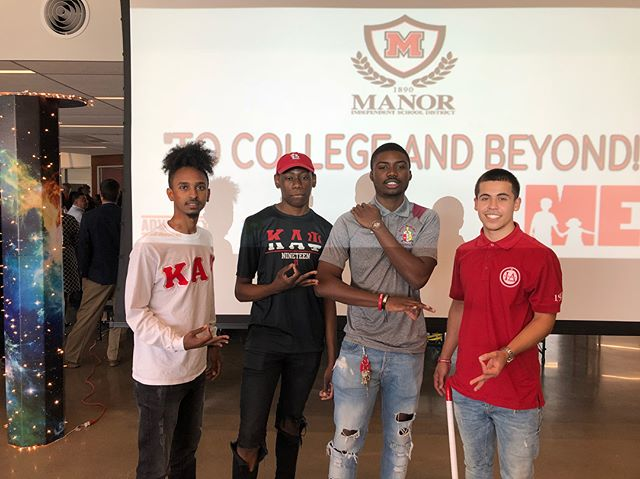 Thank you to Brother Bailey for bringing us out to speak to his high school students for the Manor ISD Decision Day. Hope our advice on time management and leadership helps their transition into college!