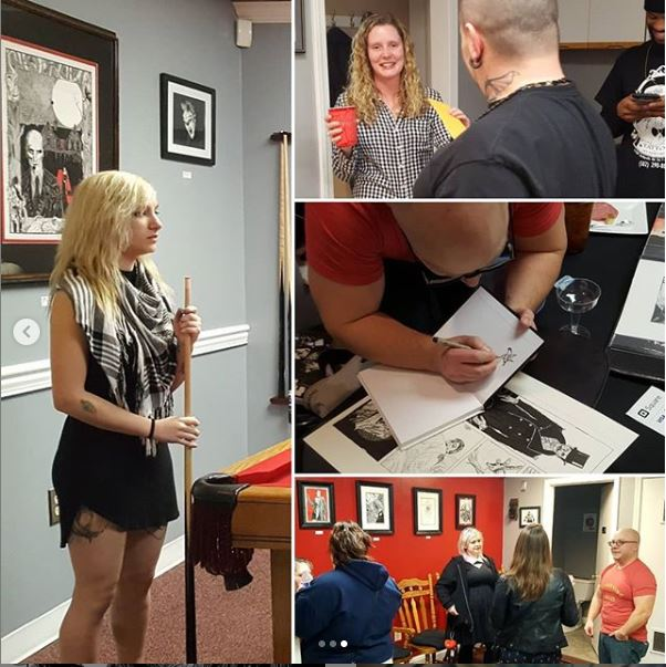 Cool thing that happened… - is how AMAZING my friends over at Brother Raven's Tattoo & Art Emporium have been in hosting my work. I've illustrated professionally for over two decades, but this was my first dedicated showing at a proper art gallery. Folks drove from hours around just to see my work, it was a truly humbling night.