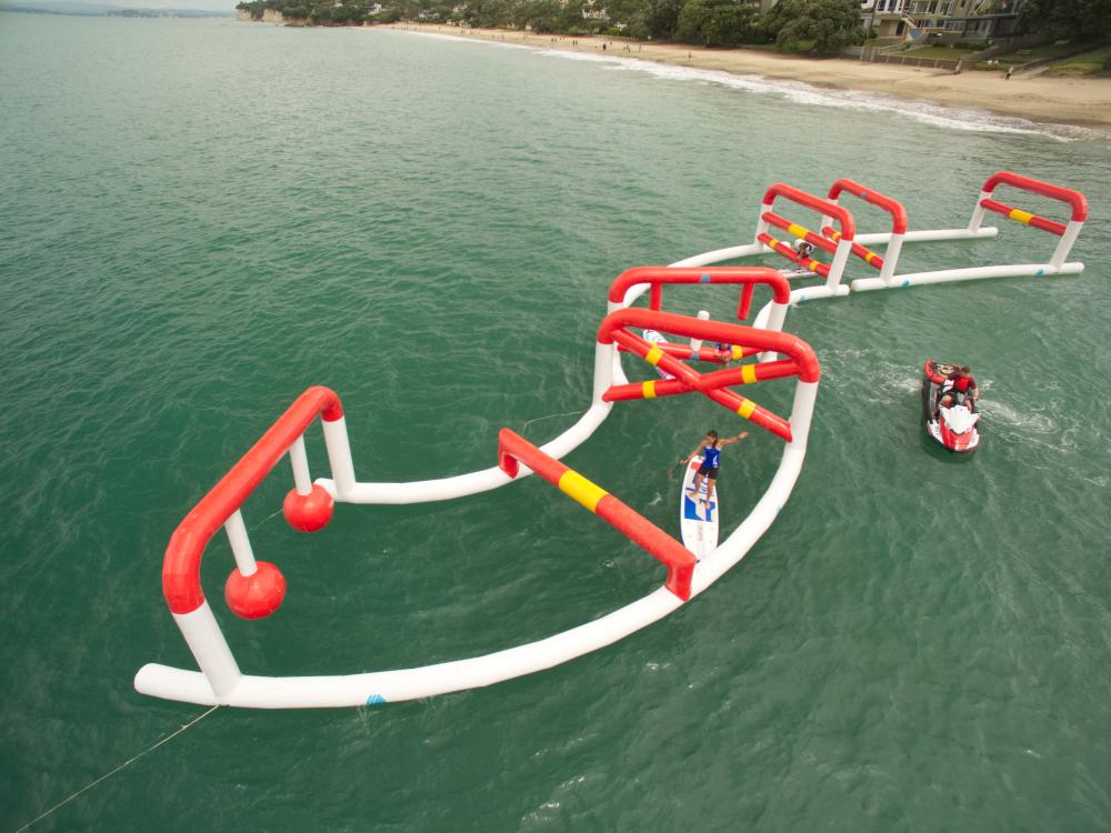 Paddleboarding-ninja-course