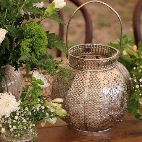 Silver Moroccan Lanterns small I $5.00 Qty 6