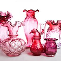 Assorted Vintage Cranberry Vase I $7.50 I Qty