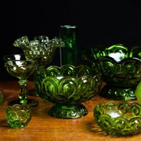 Assorted Vintage Green Vase I $5.00 I Qty