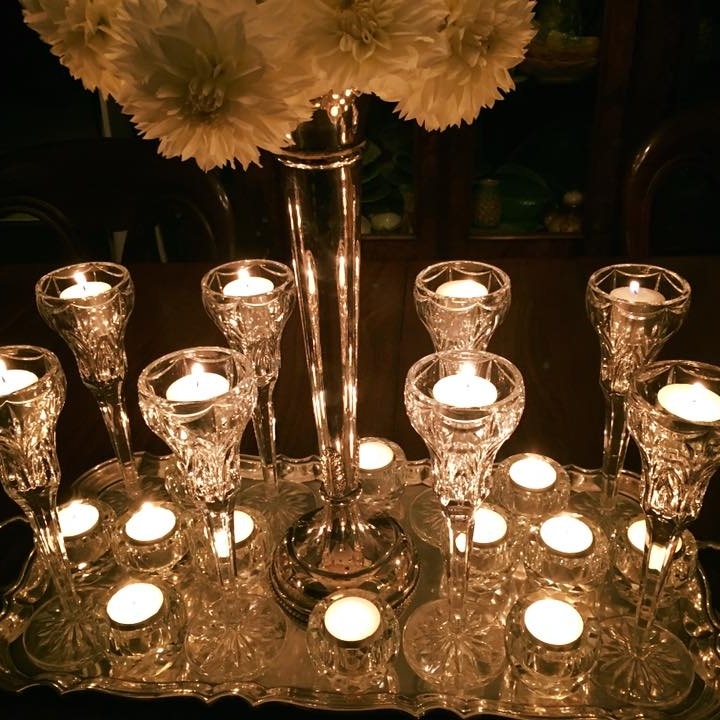 Crystal Fluted Tealights I $10.00