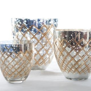 Mixed metallic Votives I $5.00