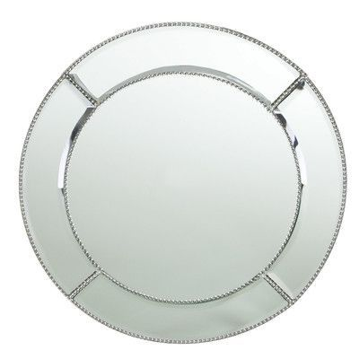 Mirror Charger plates I $6.50 I Qty 50