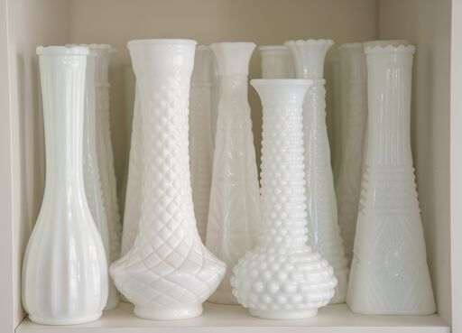 Milk Glass Vase Large/Tubs I $7.50 I Qty