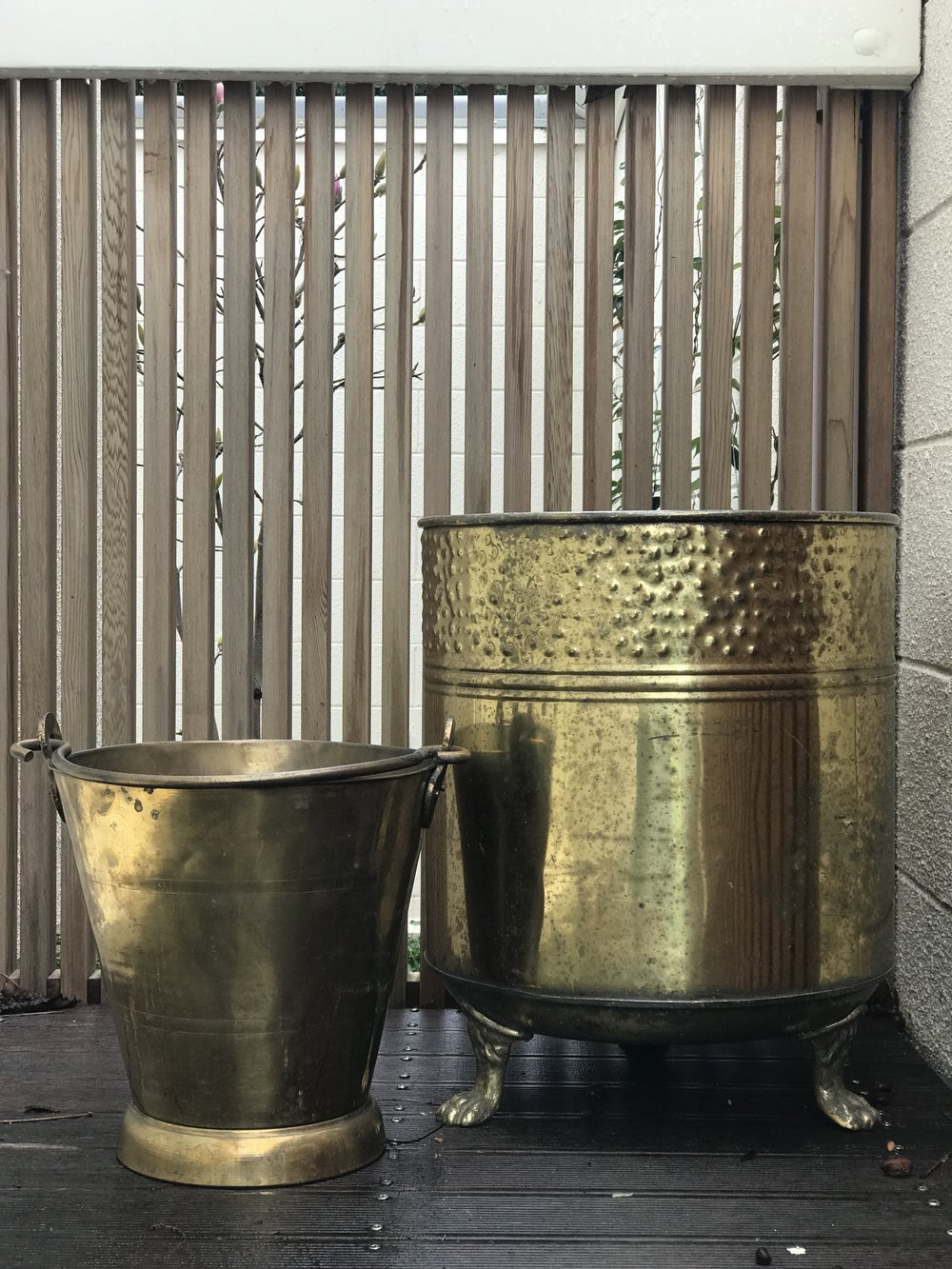 Large Brass Tubs I $10.00 I Qty 4