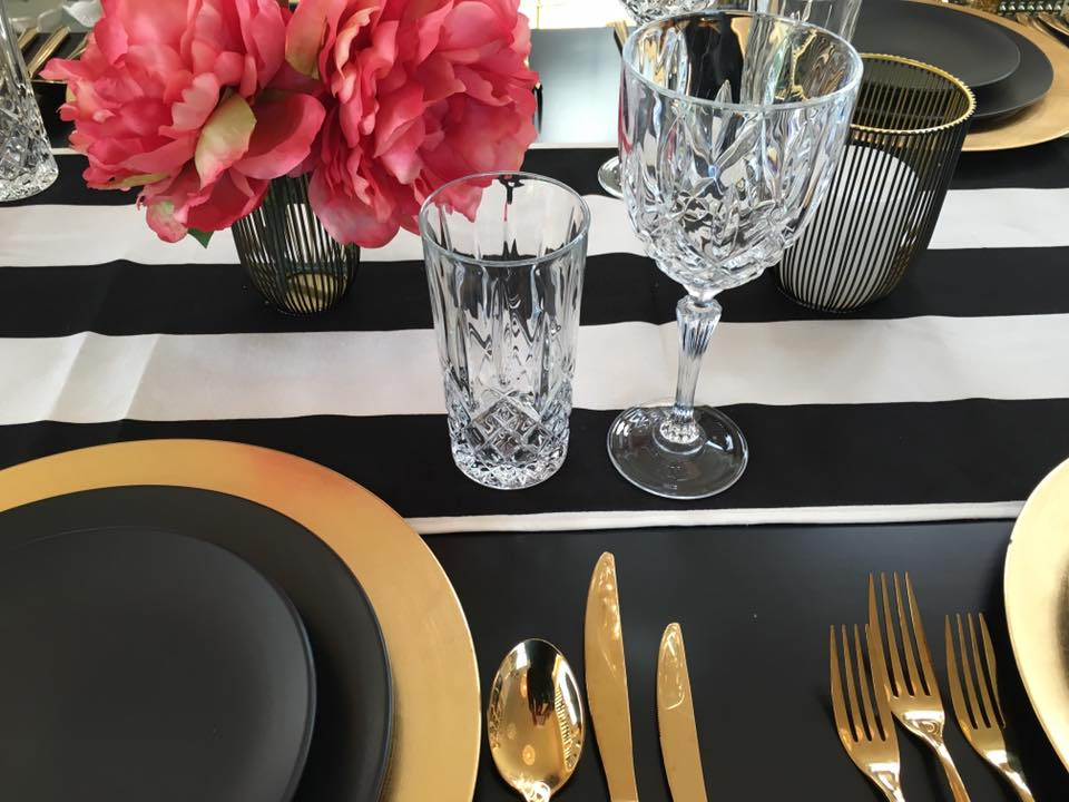 B&W Table Runners I $15.00 I Qty 15
