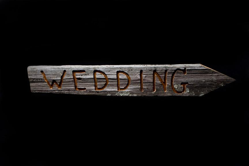 Wooden Wedding Sign I $20.00 I Qty 1