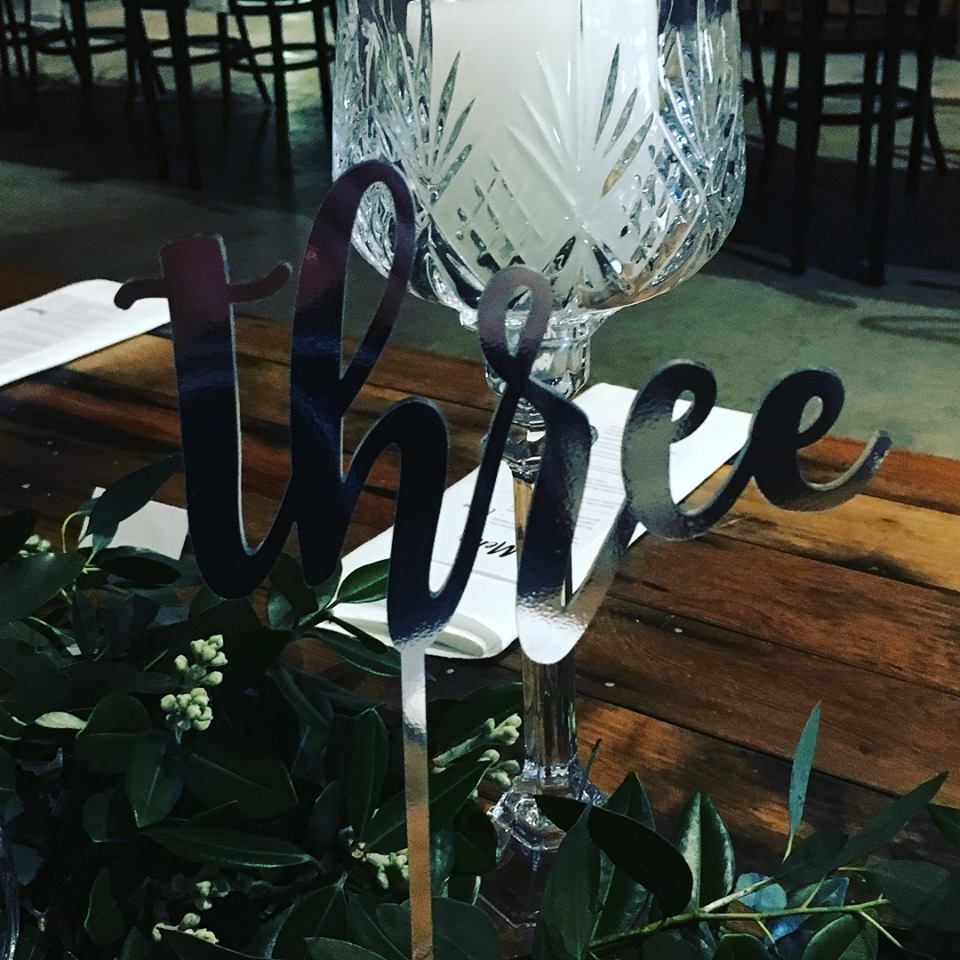 Silver Table Numbers I $4.00 I Qty 12