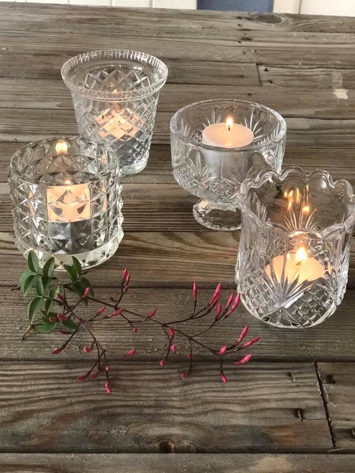 Assorted Crystal Votives I $3.50ea