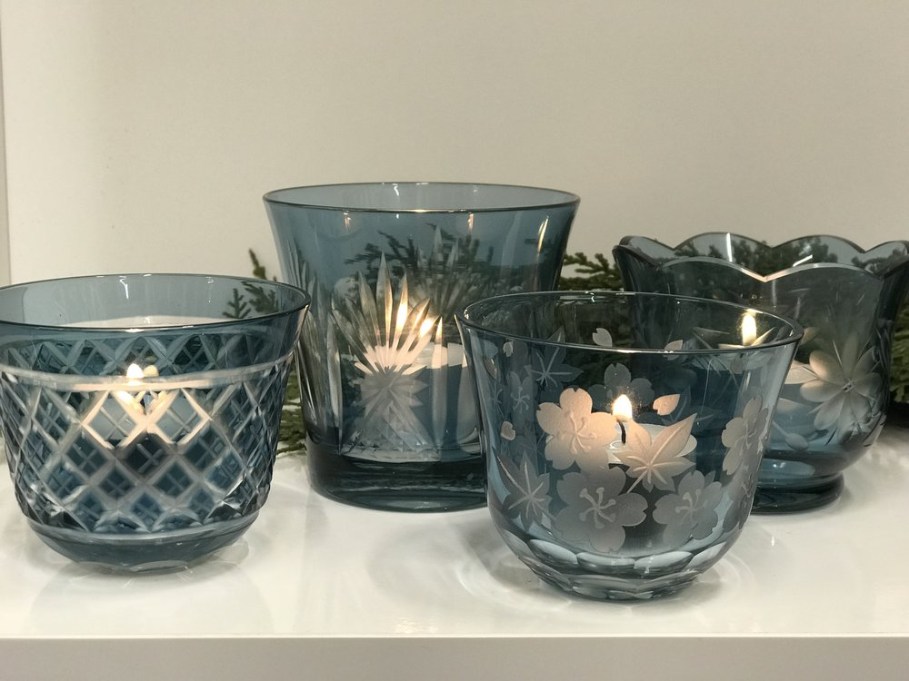 Navy Cut Glass Votives I $3 I 100 Assorted