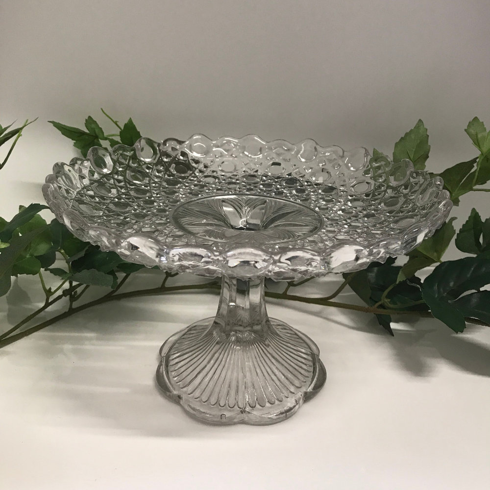 Assorted Crystal Cake Stands I from $15.00 to $55.00