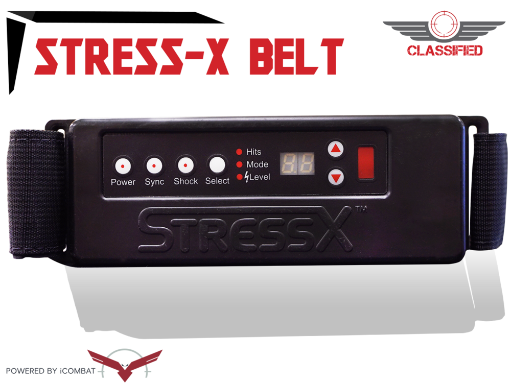 NO PAIN NO GAIN - introducing the stess-x belt. giving you 5 different levels of pain to ENHANCE real life battlefield experience.