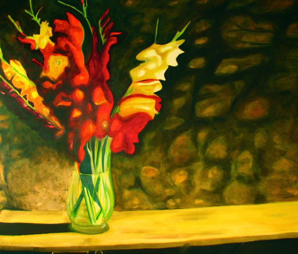 Gladiolen am Vergehen