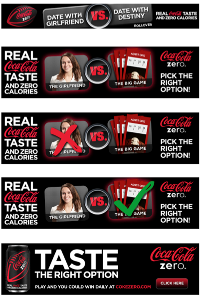 "Digital banners - Each week, a ""Vs."" option which was tied to that week's chapter promoted the game."
