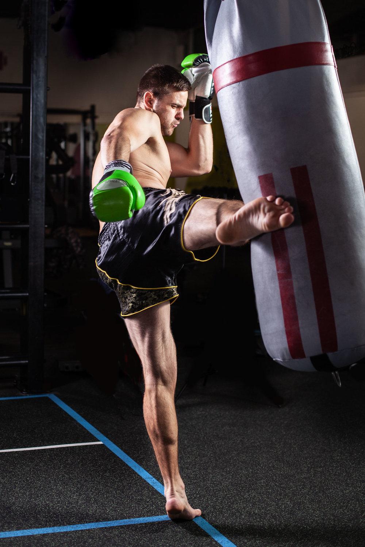 Martial arts, gym action shots, fitness portraits