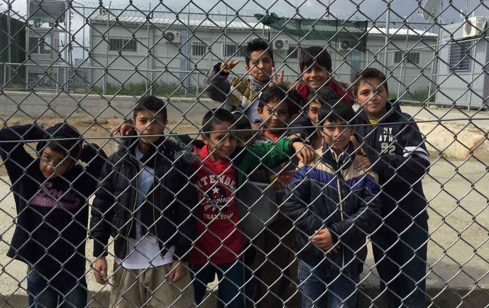 Children in Camp Moria, Greece.