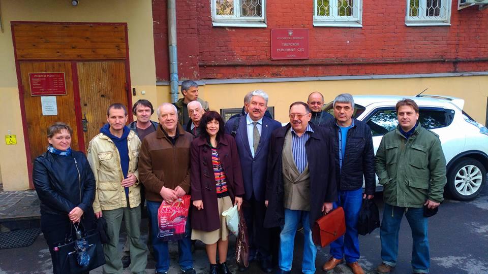После очередного судилища над ИГПР ЗОВ  в Тверском суде Москвы.